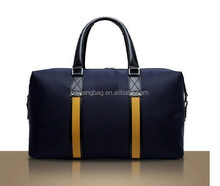 polyester canvas leather wholesale duffle bag,fashion design gym sports luggage bag ,new mens travel bag