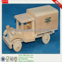 New Design Natural Unfinished Cheap Wooden Antique Car Toys
