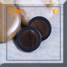 High quality round black snap button cap