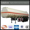 Tri axle oil tanker trailers/ CIMC fuel tank semi trailer/gasoline transport tank trailer