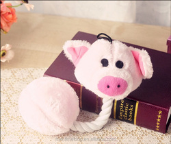 Pig Shape Cartoon Pet Products Plush Toys Dog Toys Pet Cats Cute Biting Rope Sound Toys