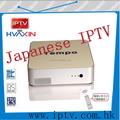 Japonês internet tv box Tempo japão hd iptv relógio 36hd canais japoneses com VOD e função PVR