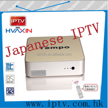 Japanese internet tv box Tempo hd japan iptv watch 36hd japanese channels with VOD and PVR function