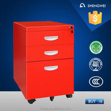 Movable steel drawer cabinet cheap metal filing cabinet 3 drawers cabinet