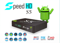 Chile Paraguay receptor iks sks android 4.4 smart tv box Speedhd S5.