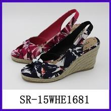 Hemp rope sole thick sole sandal shoes rope soles shoes lady sandal shoes