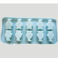 OEM manufacture 100% silicone penguin Ice cube tray