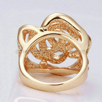 Top Design 18k Gold Plated plastic cock ring