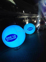 Modern advertising fashionable led inflatables pvc balloon with light for decoration