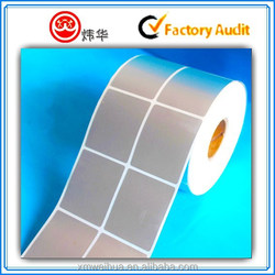 Silvery Transparent Round Label,Print Roll Circle Clear Adhesive Label Stickers