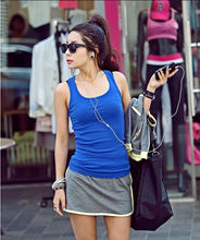 100% cotton custom designer women tops simple blank plain tube knit slim fit tank tops