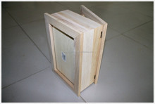 New design unfinished high quality wooden box with 3 compartments
