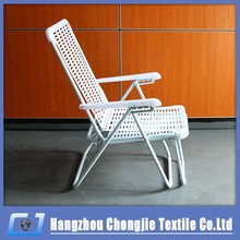 2015 Modern White Plastic and Metal Foldable Beach Outdoor Chair