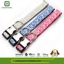 Custom Design Various Colors Available Pets Accessories Metal Buckle Fastener Dog Collar For House Pet