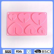 Corazón de color rosa& en forma de árbol de silicona pasteldemolde/moldes de silicona/decoración de pasteles de herramientas