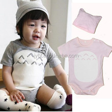 wholesale organic baby clothes soft baby short sleeve romper for boys and girls