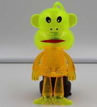 NEW YOYO CARTOON TOYS ! TPR animal YOYO flashing toys,flashing YOYO Monkey toys with sound