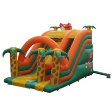 wholesale inflatable animal slide, inflatable tiger dry slide