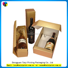 2015 paper packaging box for wine bottle carrier sale