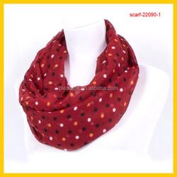fashion dots print snood scarves 2015
