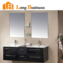 LB-DD2003 Black Cheap Double Sink Modern Bathroom Vanity