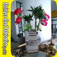 Stainless Steel Metal Mini Flower Pot for Office Decoration