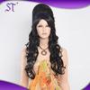 High quality fashion women long black wavy wigs