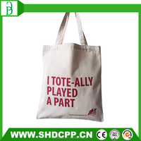 high quality recycle 100% plain cotton bag for packaging