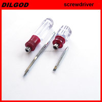 TWO-WAY SCREWDRIVER WITH TRANSPARENT HANDLE,PLASTIC SCREWDRIVER