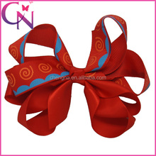 Multi Colored Animal Hair Bow With Clips CNHBW-1310246-7