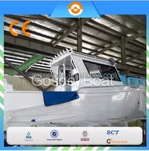 CE certification 30FT Large Cabin Aluminum Fishing Vessel outboard motor