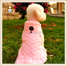 Coral Fleece Dog pink Colors Fashion Pet Dog Clothes Winter Warm Jacket Cat Apparel Puppy Coat