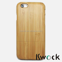 Flat Bamboo Custom Engraved Real Wood Case Cover for Mobile phone