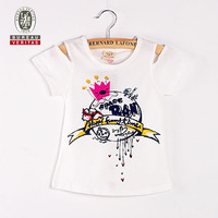 Hot sale kids clothes beautiful crown printed hot boys t shirt