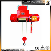 High Quality Model CD1 MD1 5 ton Wire Rope Pulling Hoist Chain Electric Block