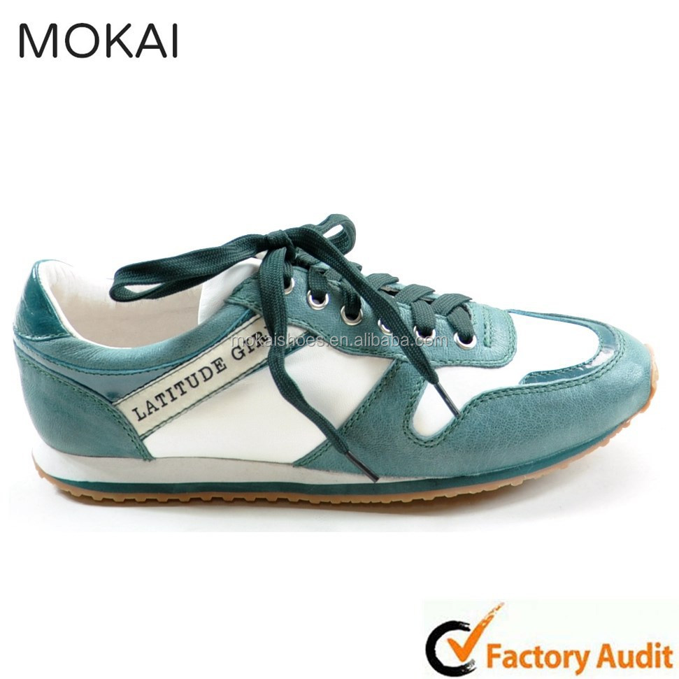 002-1 AQUA GREEN&white hot soft women shoes buy direct from china