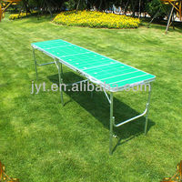 Portable outdoor aluminum folding beer pong table
