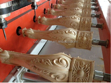 Hot sale !!! Chinia 3d 5 axis 10 rotary wooden sculpture cnc router/furniture legs drilling cnc machine
