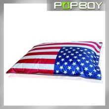 USA flsg printed bean bag bed ,large bean bag sofa