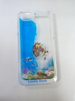 2015 New Fashion 3D Transparent Moving Hard Back Cases Cover for iphone Liquid Case