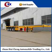 Skeleton 40ft container chassis trailer price to transport all kind containers, post and skeleton kind trailer optional