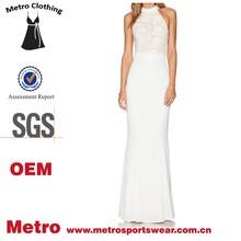 Latest hot sale long maxi dress design for women elegant Back Halter