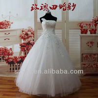 Top Fashion High Grade Actual Wedding Dresses Adorn By Handmade Flowers And Beading12117
