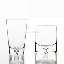 Direct selling thick transparent glass bubble bottom bottom Whisky glass Exposure to water The tiny bubbles liquor cup candlesti