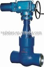 Electric actuator self sealing gate valve(Pressure seal gate valve/Butt welded gate valve)