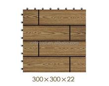 300*300*22mm factory hot sale WPC DIY decking flooring,wood plastic composite diy tiles deck floor,interlock wpc DIY decking