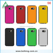 Back cover case for Galaxy S6, rubber hybrid case for Galaxy S6, for Galaxy S6 screen protector case