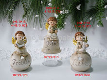 Hand painted decorative resin christmas angels
