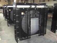 1-500kva diesel copper/ aluminum generator set radiator and slient genset radiator from TX radiator manufacturing Company