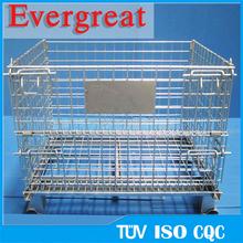 wire mesh pallet cage/storage wire mesh cage/folding storage basket